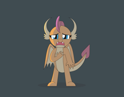 Size: 3764x2954 | Tagged: safe, artist:gd_inuk, smolder, dragon, about to cry, cute, dragoness, female, gray background, high res, lighting, open mouth, sad, sadorable, simple background, standing, wide eyes