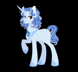 Size: 2700x2500 | Tagged: safe, artist:gigason, pony, unicorn, female, high res, magical lesbian spawn, mare, offspring, parent:fleur-de-lis, parent:princess luna, parents:fleur-de-luna, simple background, solo, transparent background