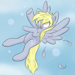 Size: 3100x3100 | Tagged: safe, artist:kaggy009, derpy hooves, pegasus, pony, female, flying, high res, mare, no pupils, solo