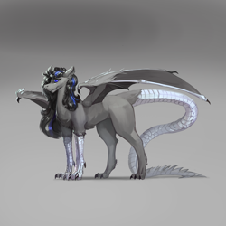Size: 2000x2000 | Tagged: safe, artist:nsilverdraws, oc, oc:solecha, chimera, hybrid, monster pony, eldritch abomination, male, monster, solo