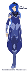 Size: 1274x3192 | Tagged: safe, artist:pyrus-leonidas, princess luna, human, series:mortal kombat:defenders of equestria, clothes, crossover, female, humanized, looking at you, mortal kombat, part of a series, part of a set, simple background, solo, transparent background, video game crossover