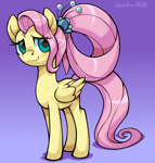 Size: 2730x2862 | Tagged: safe, artist:moonseeker, fluttershy, pegasus, pony, the last problem, spoiler:s09e26, blushing, female, mare, older, older fluttershy, solo