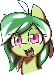 Size: 1555x2148 | Tagged: safe, artist:spheedc, oc, oc only, oc:katydid, bust, commission, female, filly, portrait, simple background, smug, transparent background