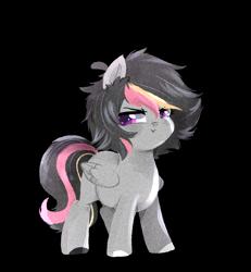 Size: 1200x1300 | Tagged: safe, artist:kraytt-05, oc, oc:speed up, pegasus, pony, offspring, parent:rumble, parent:scootaloo, parents:rumbloo, pouting, simple background, solo, transparent background