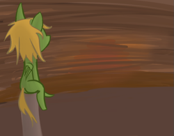 Size: 623x487   Tagged: safe, artist:priorknight, oc, oc only, oc:murky, pegasus, pony, fallout equestria, fallout equestria: murky number seven, fanfic art, male, pegasus oc, sitting, solo, stallion, wings