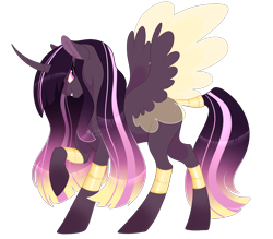 Size: 2836x2480 | Tagged: safe, artist:gigason, oc, alicorn, changepony, hybrid, alicorn oc, female, high res, interspecies offspring, magical lesbian spawn, offspring, parent:princess cadance, parent:queen chrysalis, parents:cadalis, simple background, solo, transparent background