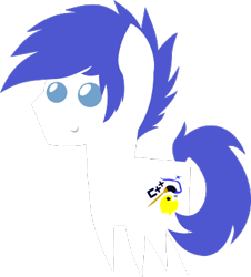 Size: 356x394 | Tagged: safe, artist:isaac_pony, oc, oc only, oc:isaac, oc:isaac pony, earth pony, pony, blue eyes, cutie mark, male, pointy ponies, simple background, smiling, solo, stallion, transparent background, vector, white pony