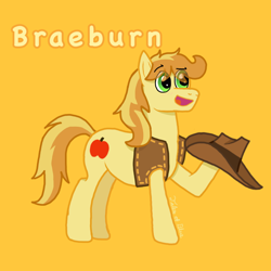 Size: 768x768 | Tagged: safe, artist:talezofblue, braeburn, clothes, hat, jacket