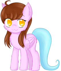 Size: 992x1165 | Tagged: safe, artist:homumu, oc, oc only, pegasus, pony, :3, chest fluff, female, mare, pegasus oc, simple background, smiling, solo, transparent background, wings