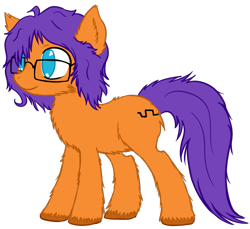 Size: 925x847 | Tagged: safe, artist:homumu, oc, oc only, oc:sine, earth pony, pony, chest fluff, earth pony oc, glasses, messy mane, simple background, smiling, transparent background, unshorn fetlocks