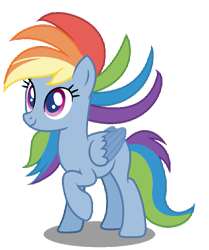 Size: 863x1031 | Tagged: artist needed, safe, rainbow dash, my little pony: pony life, simple background, solo, transparent background