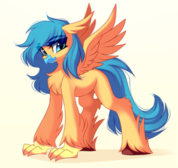 Size: 3333x3144   Tagged: safe, artist:airiniblock, oc, oc only, hippogriff, solo