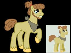 Size: 4500x3375   Tagged: safe, artist:avatarmicheru, oc, oc only, oc:autumn glory, earth pony, pony, base used, beard, facial hair, male, neckerchief, offspring, parent:applejack, parent:caramel, parents:carajack, simple background, solo, stallion, transparent background, unshorn fetlocks
