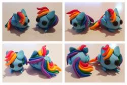 Size: 1280x853 | Tagged: safe, artist:dawn-designs-art, rainbow dash, pegasus, pony, craft, photo, sculpey, sculpture, solo, traditional art