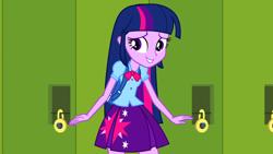 Size: 1920x1080 | Tagged: safe, screencap, twilight sparkle, equestria girls, equestria girls (movie), lockers, solo