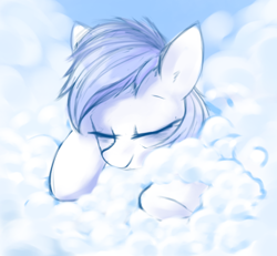 Size: 606x560 | Tagged: safe, artist:some_ponu, rainbow dash, pegasus, pony, cloud, lying on a cloud, monochrome, on a cloud, sketch, sleeping, sleeping on cloud, solo