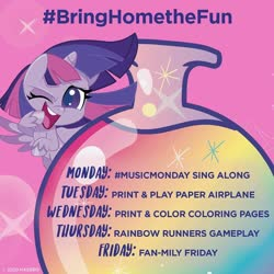 Size: 1080x1080 | Tagged: safe, twilight sparkle, alicorn, pony, my little pony: pony life, coronavirus, instagram, official, solo, text, twilight sparkle (alicorn)