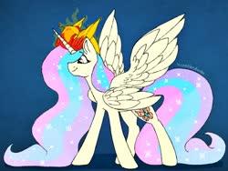 Size: 2048x1536   Tagged: safe, artist:incendiaryboobs, fluttershy, philomena, princess celestia, pony, fusion