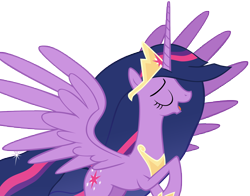 Size: 13392x10500 | Tagged: safe, artist:andoanimalia, twilight sparkle, alicorn, pony, the last problem, spoiler:s09e26, absurd resolution, cutie mark, eyes closed, female, flying, mare, older, older twilight, open mouth, princess twilight 2.0, singing, solo, twilight sparkle (alicorn)