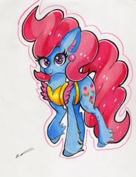 Size: 2320x3000 | Tagged: safe, artist:luxiwind, cup cake, pony, high res, solo, traditional art