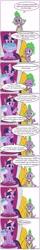 Size: 1280x7982 | Tagged: safe, artist:rockhoppr3, spike, twilight sparkle, alicorn, dragon, pony, the last problem, spoiler:s09e26, book, comic, coronavirus, crown, jewelry, looking at you, medallion, public service announcement, regalia, speech bubble, twilight sparkle (alicorn), winged spike