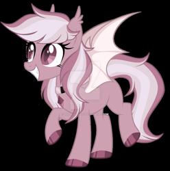Size: 1280x1291 | Tagged: safe, artist:magicdarkart, oc, bat pony, pony, deviantart watermark, female, mare, obtrusive watermark, simple background, solo, transparent background, watermark