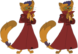 Size: 4528x3168 | Tagged: safe, artist:hubfanlover678, capper dapperpaws, abyssinian, anthro, clothes, coat, male, simple background, solo, white background