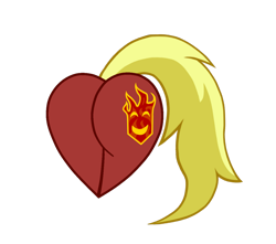 Size: 1024x907 | Tagged: safe, oc, oc only, oc:firebrand, pony, butt only, heart flank, photo, simple background, solo, transparent background