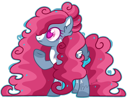 Size: 2132x1632 | Tagged: safe, artist:kurosawakuro, oc, pegasus, pony, base used, big hair, colored pupils, female, heart, magical lesbian spawn, mare, offspring, outline, parent:posey shy, parent:windy whistles, simple background, solo, transparent background
