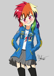 Size: 2480x3508 | Tagged: safe, artist:heart324, rainbow dash, human, equestria girls, female, human coloration, humanized