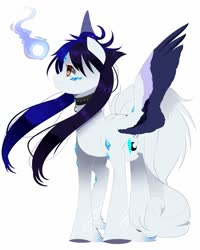 Size: 1024x1280 | Tagged: safe, artist:clefficia, oc, oc only, oc:cyan crystal, pegasus, pony, female, mare, simple background, solo, two toned wings, white background, wings