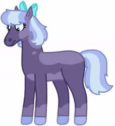 Size: 1280x1405 | Tagged: safe, artist:kindheart525, oc, oc only, oc:snowcone syrup, earth pony, auraverse, bow, hair bow, magical lesbian spawn, offspring, parent:tempest shadow, parent:twilight sparkle, parents:tempestlight