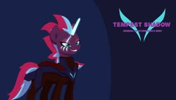 Size: 1600x906 | Tagged: safe, alternate version, artist:chedx, tempest shadow, pony, unicorn, comic:the storm kingdom, my little pony: the movie, alternate design, alternate hairstyle, alternate timeline, alternate universe, comic, crystal of light, female, general tempest shadow, mare, scar, solo, wallpaper