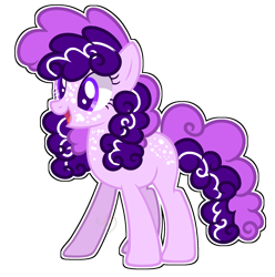 Size: 1812x1824 | Tagged: safe, artist:pegasski, artist:rainbow-drawz, oc, oc only, oc:ube cake, earth pony, pony, base used, female, mare, offspring, parent:party favor, parent:pinkie pie, parents:partypie, simple background, solo, transparent background