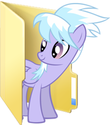Size: 225x256 | Tagged: safe, cloudchaser, pony, computer icon, desktop, folder, simple background, solo, transparent background