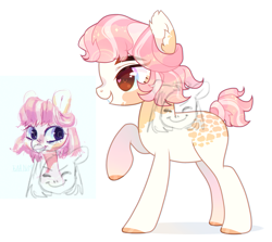 Size: 1874x1670 | Tagged: safe, oc, earth pony, pony, adoptable, cute, raised leg, solo