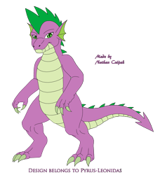 Size: 1935x2123 | Tagged: safe, artist:pyrus-leonidas, spike, dragon, series:mortal kombat:defenders of equestria, crossover, male, mortal kombat, part of a series, part of a set, simple background, solo, transparent background, video game crossover
