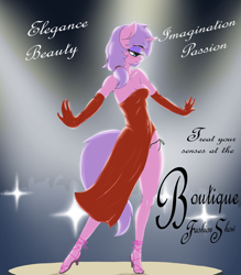 Size: 1750x2000 | Tagged: safe, artist:t72b, oc, anthro, clothes, fashion, fashion show, female, game, patreon, poster, solo, text, welcum to pornyville