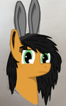 Size: 1264x2038 | Tagged: safe, artist:moonbutters, oc, oc:danger, earth pony, pony, bunny ears, female, looking at you, mare, solo