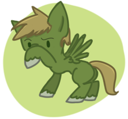 Size: 257x240   Tagged: safe, artist:priorknight, oc, oc only, oc:murky, pegasus, pony, fallout equestria, fallout equestria: murky number seven, colt, fanfic art, male, pegasus oc, raised hoof, simple background, solo, transparent background, unshorn fetlocks, wings