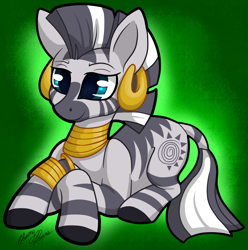 Size: 2229x2244 | Tagged: safe, artist:gleamydreams, zecora, zebra, cute, ear piercing, earring, female, jewelry, mare, piercing, solo, zecorable