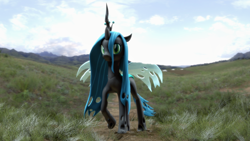 Size: 3840x2160 | Tagged: safe, artist:freasaloz, queen chrysalis, changeling, 3d, solo, source filmmaker