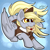 Size: 2235x2237 | Tagged: safe, artist:gleamydreams, derpy hooves, pegasus, pony, blonde, clothes, cute, derpabetes, female, hat, letter, mail, mailmare, mare, mouth hold, solo, super smash bros., wings