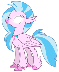 Size: 6755x8192 | Tagged: safe, artist:thatguy1945, edit, vector edit, silverstream, classical hippogriff, hippogriff, school daze, avatar silverstream, avatar state, avatar the last airbender, cute, diastreamies, glowing eyes, happy, one eye closed, simple background, solo, transparent background, vector
