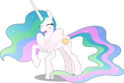 Size: 10000x6703 | Tagged: safe, artist:chrzanek97, edit, editor:slayerbvc, vector edit, princess celestia, alicorn, accessory-less edit, barehoof, blushing, covering, cute, cutelestia, embarrassed, female, mare, missing accessory, raised hoof, shy, simple background, solo, transparent background, vector, we don't normally wear clothes, wing hands, wings