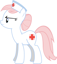 Size: 1724x1930 | Tagged: safe, artist:vielwerth, nurse redheart, earth pony, pony, female, frown, hat, mare, simple background, solo, transparent background, vector