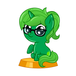 Size: 1250x1250 | Tagged: safe, artist:sashagemini, oc, oc only, oc:lime dream, pony, unicorn, alternate hairstyle, cute, pocket ponies, pocket pony, simple background, solo, transparent background