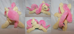 Size: 4291x2000 | Tagged: safe, artist:bastler, fluttershy, pegasus, pony, eyes closed, female, irl, mare, photo, plushie, sleeping, solo
