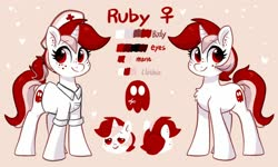 Size: 2000x1200 | Tagged: safe, artist:colorfulcolor233, oc, oc only, oc:ruby, pony, unicorn, reference sheet, solo