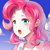 Size: 1024x1024   Tagged: safe, artist:义臣子, pinkie pie, human, anime, female, humanized, open mouth, solo
